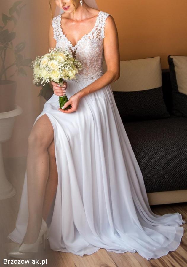 bae8982d70 Przepiękna suknia ślubna Golcowa Domaradz - Brzozowiak.pl